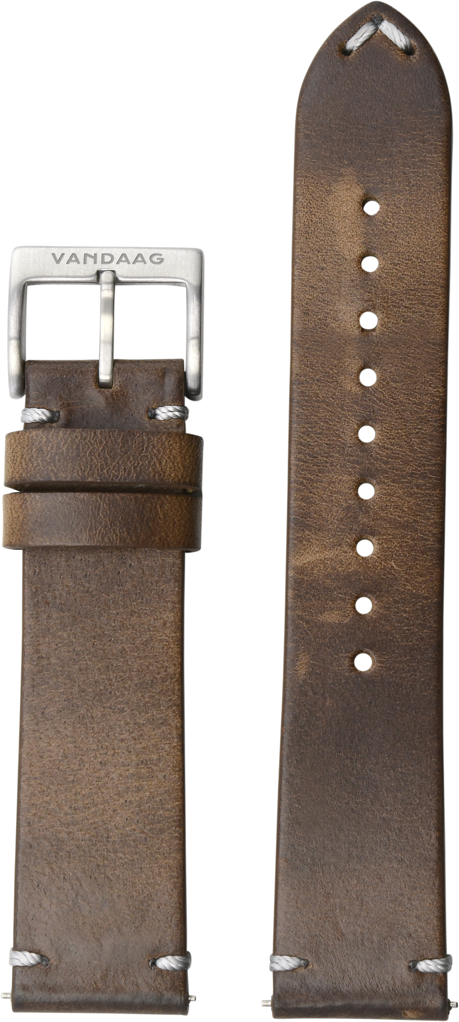 Horween-leather strap,  light brown, DLC-Closure