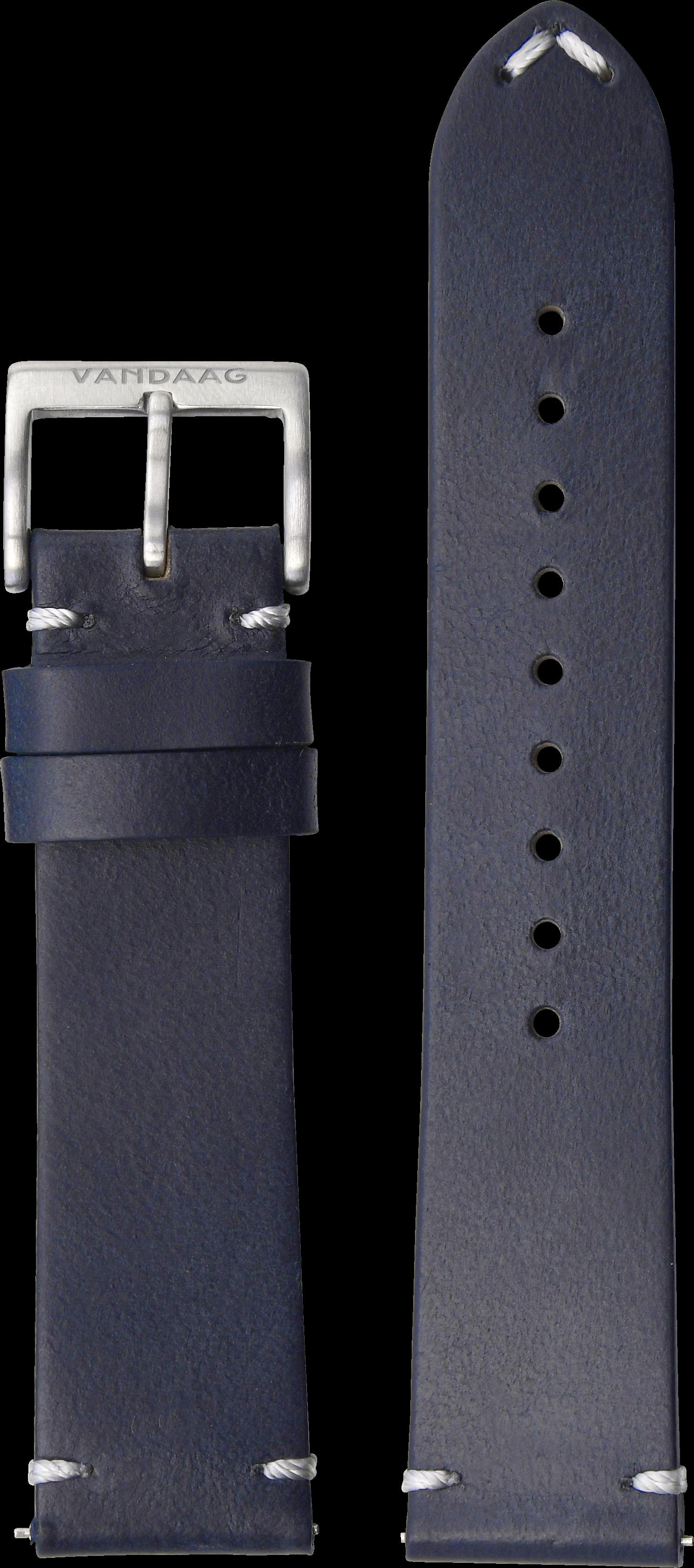 Horween-Lederband 22mm, dunkelblau
