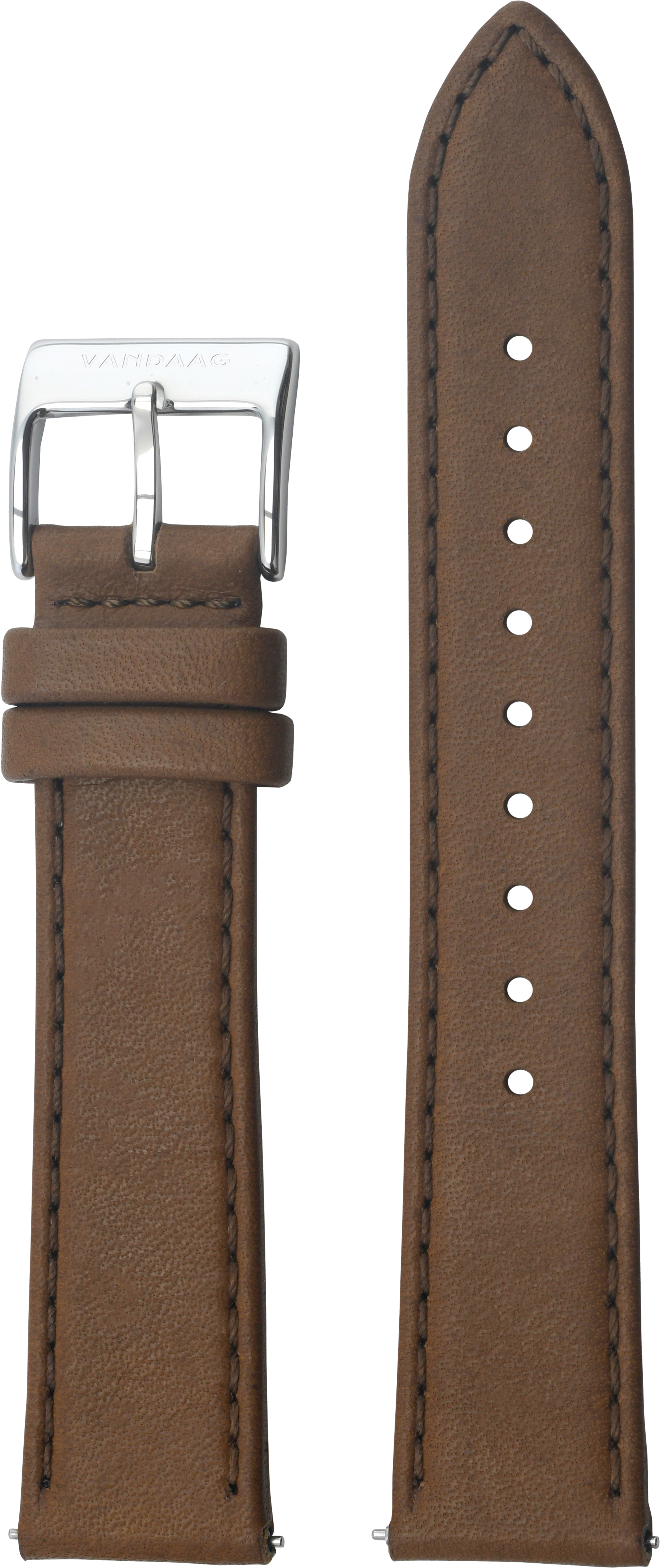 Leather strap 20mm, light-brown